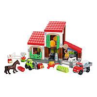 Конструктор «Ecoiffier» (3044) Ферма с животными, 88 элементов