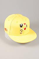 Детская кепка Snapback. Стильная кепка. Детская кепка Pikachu. Кепка с прямым козырьком. Кепка Pikachu .