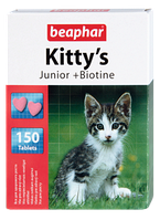Beaphar Kittys junior 150 таблеток-витамины для котят с биотином (12508)