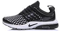 Мужские кроссовки Nike Air Presto Flyknit  (Найк Аир Престо) черные