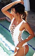 Сдельный сексуальный купальник завязки монокини 2 цвета