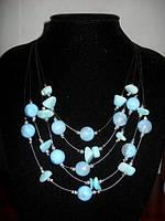 Египетское ожерелье с бирюзовыми камнями