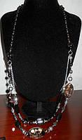 Винтажное ожерелье длинное декоративные камни