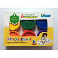 Пальчиковые краски 6 цветов по 30 мл., 4004