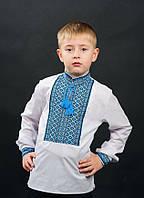 Стильная вышиванка для мальчика с длинным руквом от мастеров волынского края