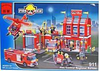 Конструктор детский 980 деталей Пожарная тревога BRICK 911