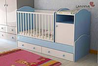 """Детская кровать-трансформер """"Sweet"""", Lanami (от 0 до 12 лет), цвет голубой"""