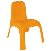 Стульчик детский пластиковый оранжевый