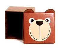 """Детский пуф 3 в 1 (корзина, ящик для игрушек) """"Мишка"""" 40*40*40 см"""