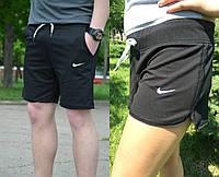 Комплект женских и мужских шорт черных