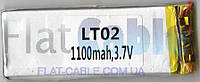 №1 Батарея (аккумулятор) для телефона (Li-Pol 3.7В 1100мА·ч), (3,6 *27*77мм)