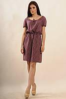 Красивое летнее женское платье с цветочным принтом.