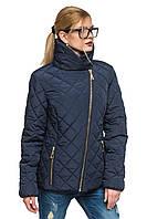 Синяя короткая куртка стеганая