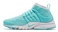 Женские кроссовки Nike Air Presto Flyknit (найк аир престо) голубые