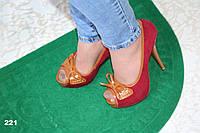 Туфли-босоножки с открытым носком