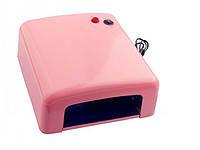 УФ Лампа для сушки гелей и Shellac SSI 818, 36Вт(роз)
