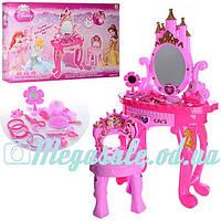 """Детский игровой набор салон красоты """"Трюмо принцессы"""": стульчик + аксессуары + звук/свет"""