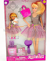 Кукла Defa с дочкой, питомцем и аксессуарами