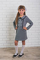Школьное платье для девочки светло-серое, фото 1