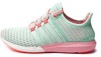 Женские кроссовки Adidas Gazelle Boost (адидас газель буст) зеленые