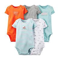 Боди Картерс с коротким рукавом для новорожденных и малышей Набор 5 шт Carter's