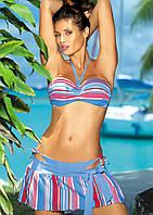 Яркий купальник с пляжной юбкой (разные цвета)