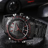 часы Naviforce NF9024Dual Movt Men Quartz Analog Digital LED Wristwatch Calendar
