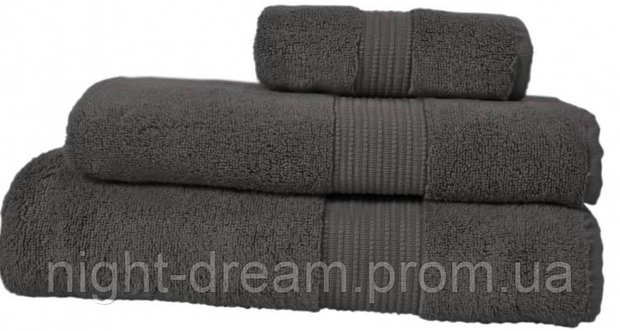 Махровое полотенце 70х140 CASUAL AVENUE Chicago LIGHT DARK GREY из гидрохлопка, темно-серый