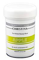 Christina Sea Herbal Beauty Mask Green Apple — Маска красоты для жирной и комбинированной кожи «Яблоко» Кристина, 250 мл