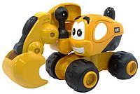 Игрушка Toy State Инерционная техника САТ для малышей Экскаватор Дэйв 9 см 80404
