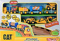 Игрушка Toy State Железная дорога CAT со светом и звуком для дошкольников 80408