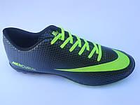 Брендовые мужские кроссовки для футбола сороконожки эко кожа бутсы Nike Mercurial недорого 7 км пал|2372