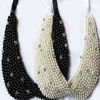 Ожерелье Воротник с жемчужинами и кристаллами