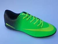 Брендовые мужские кроссовки для футбола сороконожки эко кожа бутсы Nike Mercurial недорого 7 км пал|2380
