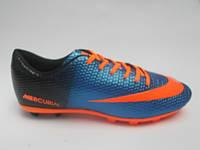 Брендовые мужские кроссовки для футбола копы пампы эко кожа бутсы Nike Mercurial недорого 7 км пал|2393