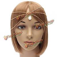 Цепочка на голову украшение для волос с кулоном