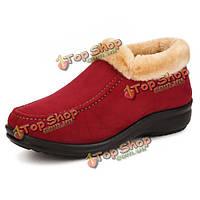Новых мужчин зима теплая ботильоны круглый носок хлопка ботинки снега
