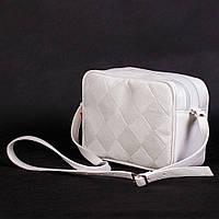 Белая маленькая сумочка прямоугольная женская №1370wnr