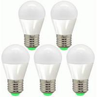 Набор светодиодных LED ламп FERON LB-95: шарик 7W 2700K E27 5 штук