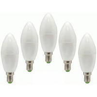 Набор светодиодных LED ламп FERON LB-97: свеча 7W E14 5 штук
