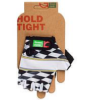 Перчатки Green Cycle NC-2138-2013 Kids без пальцев L бело-черные