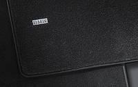 Комплект велюровых ножных ковриков BMW 5 (F10, F11)  чёрные