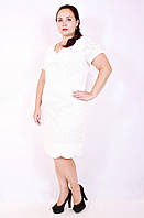 Платье большого размера Кружево, ажурное платье большого размера, белое платье большого размера, дропшиппинг