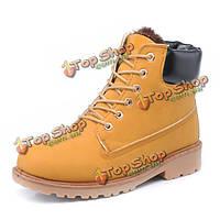 Новая лодыжка мужчин короткие ботинки thicking согревается шикарные зимние ботинки моды повседневная обувь без каблука