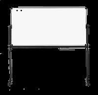 Оборотная доска для маркера ABC Office 100 x 150 см, алюминиевая рама