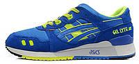 Женские кроссовки Asics Gel Lyte III (асикс гель лайт 3) синие