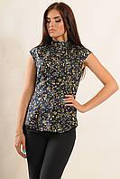 Красивая хлопковая блузка с растительным принтом