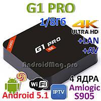 G1 PRO Amlogic S905 Android 5.1 TV приставка IPTV UltraHD 4K