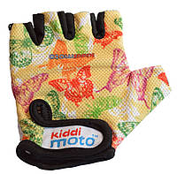Перчатки детские Kiddi Moto бабочки, размер М на возраст 4-7 лет