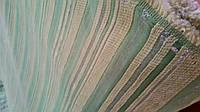 Шенилл Соло полоса зеленая обивочная ткань Турция (вит)
